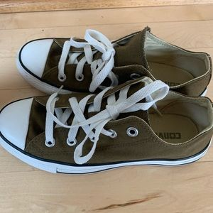 Olive green Converse